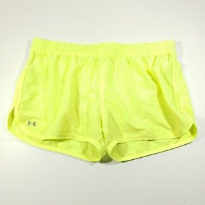 Under Armour neon yellow womens stretch shorts xl